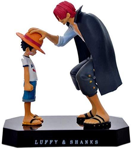UanPlee-SC Geschenk One Piece Actionfiguren Anime Strohhut Ruffy Armreifen Rotes Haar Ornamente Puppe Geschenk Spielzeug 17,5 cm Kind Ruffy Modelle PVC Sammlung