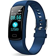 HuaWise Fitness Tracker,Activity Tracker with Heart Rate Monitor and Sleep Monitor,Bluetooth Waterproof Smart Watch,Step Counter Pedometer and Calorie Counter