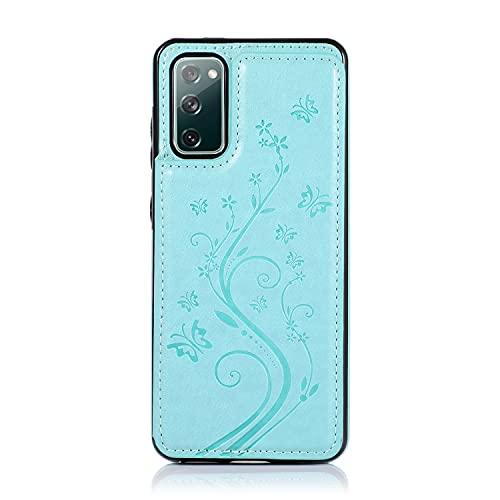 Case Cover, Per Samsung Galaxy S20 FE Custodia per telefono, custodia in pelle PU di lusso [Two Magnetic Chiush] [Slot per schede] Funzione Stand Funzione Farfalla Flower Pattern Durevole Soft TPU Por