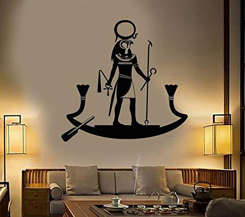 Antiguo Dios egipcio RA religión Egipto arte calcomanía sala de estar dormitorio decoración del hogar diseño vinilo pared pegatina Mural cartel