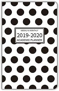 2019-2020 Academic Planner/Pocket Calendar, 13 Months - September 2019 to September 2020, Weekly Agenda/Monthly Organizer, 6