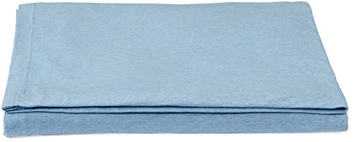 AmazonBasics - Lenzuolo sopra Singolo, in jersey mélange, 240 x 320 + 10 cm - Celeste