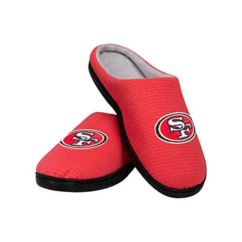 FOCO San Francisco 49ers NFL Herren Slide, Memory Foam, Team-Farbe, S (7-8) (SLPNFMYFM