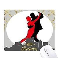 ダンス社交ダンスデュエットダンス クリスマスイブのゴムマウスパッド