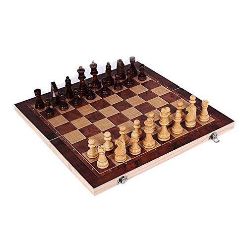 L.J.JZDY Schachbrett Folding Vintage Chinesische Chessafeln Set Tragbare Holzbrett Reise Spiele für Führer Freunde im Freien
