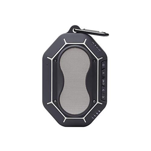Dpliu Altavoz Bluetooth, Bluetooth inalámbrico portátil 4.1 Altavoces Impermeables con Dual 10sound, Manos Libres, 10h Tiempo de Juego (Color : Silver+Cycling Bracket)