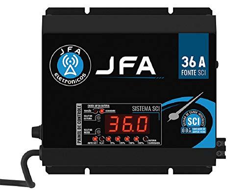 Fonte Automotiva Jfa 36a 1800w Sci Carregador Bateria Bivolt Display Led Voltímetro Amperímetro