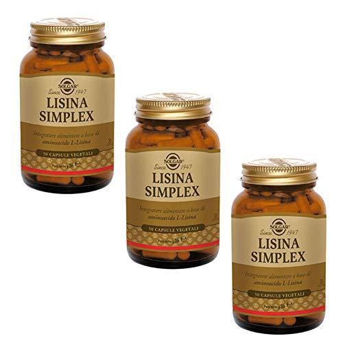 Solgar Lisina Simplex Da 50 capsule (3 Confezioni da 50 Capsule)