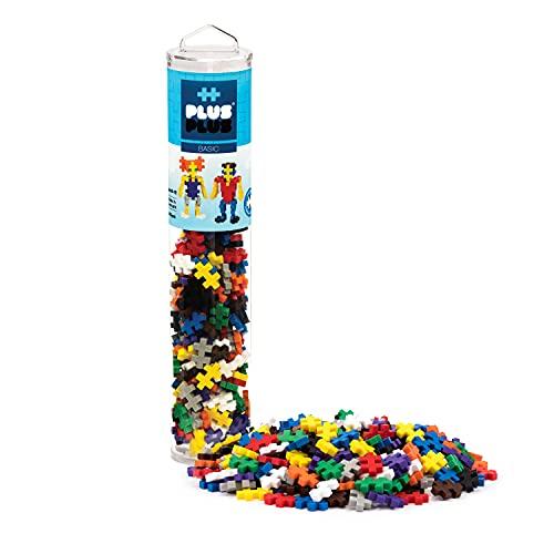 PLUS PLUS - 240 Piece Basic Mix - Construction Building Stem/Steam Toy, Mini Puzzle Blocks for Kids