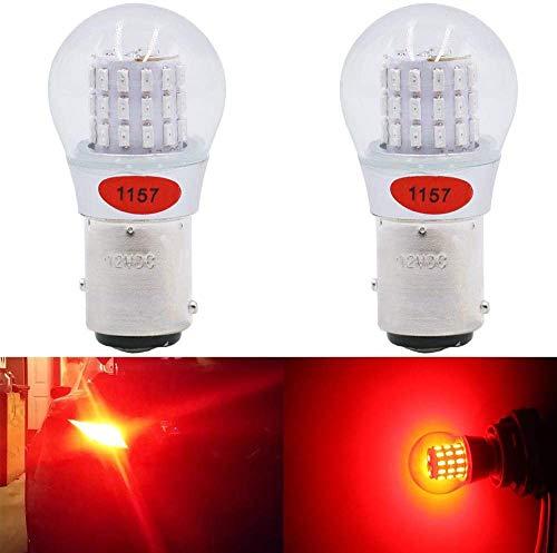 Paquete de 2-1157 BAY15D 1016 1034 7528 2057 2357 Luz LED Rojo Extremadamente Brillante, No Polarizada 12V-DC AMAZENAR 3014 39 SMD Bombilla Luces de Estacionamiento luces Traseras Luz de Freno