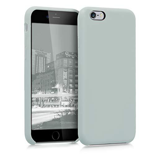 kwmobile Cover per Apple iPhone 6 / 6S - Cover Custodia in Silicone TPU - Back Case Protezione Cellulare Grigio Chiaro Opaco
