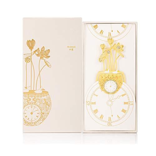Zhongxingenggeng Segnalibro/Segnalibri/Stile Preferiti Libro Marks- Segnalibro del Metallo Cinese L'unico Forma di Loto Orologi/Buona Scelta Come Regalo di Compleanno, Regalo di Natale