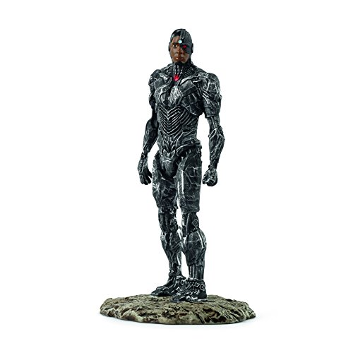 Schleich DC Comics - Figura Superhéroe Cyborg, 18,5 cm