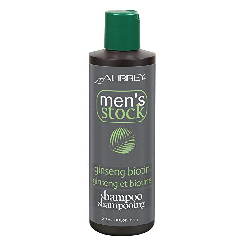 Aubrey Mens Stock Ginseng Biotin Shampoo & Scalp Energizer | Formula For Thicker, Healthier Looking Hair | Ho Shou Wu & Nettle | All Hair Types | 8oz