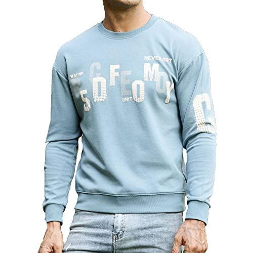 Tbylf Letter Foam - Jersey informal para hombre, azul, L