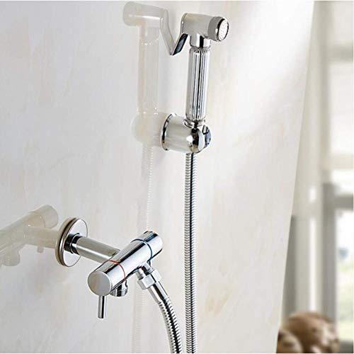 Zixin Badezimmer Bidet Wasserhahn Toilette Bidet Dusche Set Tragbarer Bidet-Spray mit ABS Chrom Brausenhalter und Schlauch Hand Bidet