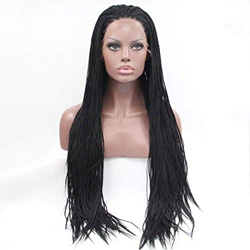 SHIYID Color Synthetic Braided Lace Front Wigs For Women Heat Resistant Fiber Hair Wigs Premium Braid Wig 18inch