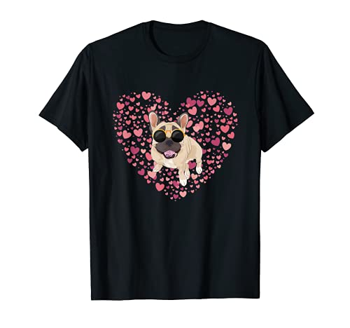 Cute Dog Lover Valentines Day Gift Heart French Bulldog T-Shirt