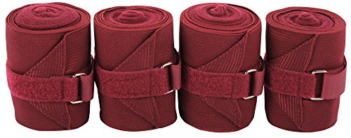 Harry's Horse Bandages elastisch/Fleece 4 st, Farbe:Bordeaux