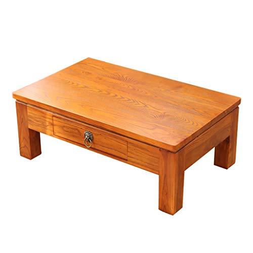 Table basse Side Tatami baie vitrée balcon bois massif Square Table basse (Couleur : A, taille : 60cm*40cm*30cm)