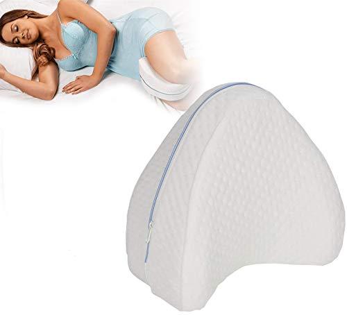 OMZGXGOD Kniekissen für Seitenschläfer, Leg Pillow zur Abtötung von Rückenschmerzen, Hüft- und Knieschmerzen, Memory Foam-Kissen mit waschbarem Bezug