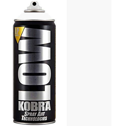 Kobra Low 41001 - Bomboletta spray per graffiti, capacità: 400 ml, colore: bianco puro