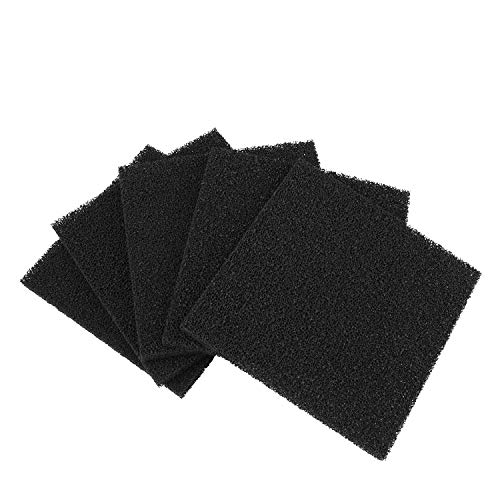 Flexzion Solder Fume Extractor Activated Carbon Filter Set of (5 Pack) - Fan Smoke Absorber Filter Replacements Square, Compatible for Flexzion 493, Valtcan 493 496 FA-400 Series Filters