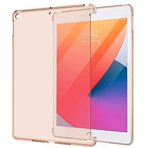 MoKo Smart Cover per Nuovo 10.2 Pollici iPad 8a Generazione 2020, iPad 7a Generazione 2019, Unità Sola di Protettore Semi-trasparente Policarbonato Duro per iPad 10.2  Tablet - Oro Rosa Trasparente