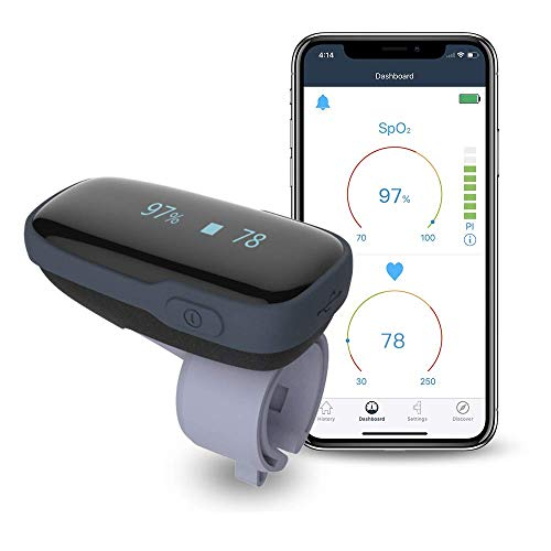 Oximetro Dedo, Pulsioximetro Profesional, Medidor Saturacion Oxigeno, Medidor Bluetooth de Oxígeno en...