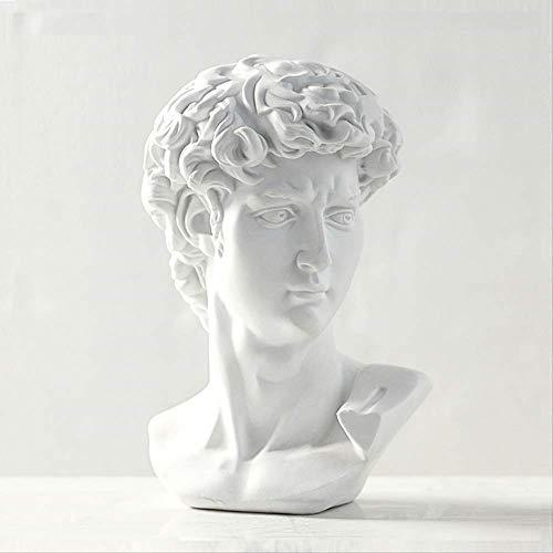 KKUUNXU Decoración del hogar Artesanías de Resina Estatua Griega Mitología David Mini Europa Escultura de Miguel Ángel