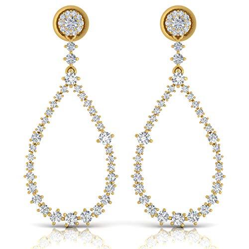Spectrum Jewels Diseñador 18K diamante de extendido de joyería cuelga los pendientes de gota para Unisexadulto