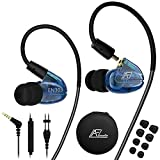 in Ear Headphones with Microphone, Wired Earbuds Earhook Removable Cable Noise...