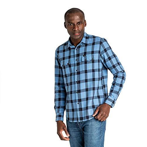 Lee Herren Freizeithemd Rider Shirt, Blau (Frost Blue Mj), XX-Large