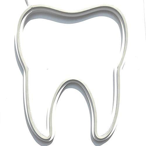 Zahn Zahnarzt 38x32 cm Dentist LED Neon Werbung Leuchtreklame