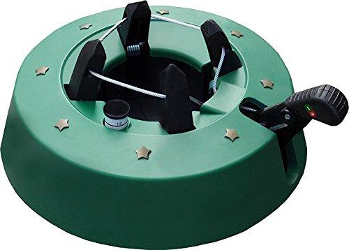 Brandsseller Christbaumständer Weihnachtsbaumständer Tannenbaumständer mit Fußhebeltechnik, EIN-Seil-Technik und Sicherung - 34x34cm/4,2kg für Bäume bis zu 2,5m - Farbe: Grün