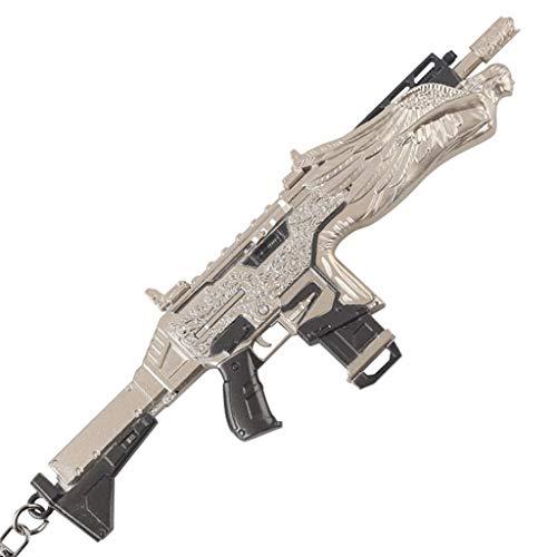 LINLUO Legends1/6 Metal Blasting Type AR Rifle Assault Gun Game Collection Llavero Figura de acción Artes Juguetes Regalo Mochila Colgante Suministros de fiesta Decoración de Escritorio Pistol