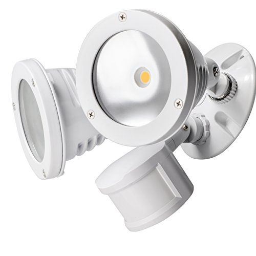 TOPELE Flood Light with Motion Sensor, Super Bright LED Security Light with 2200LM 4000K Daylight, 2 Adjustable Head Motion Security Lights for Garage Yard, 24W, Waterproof IP65 & ETL Listed, White
