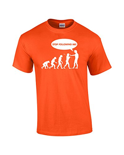 TDHC Evolution T-shirt Stop Following Me Caveman