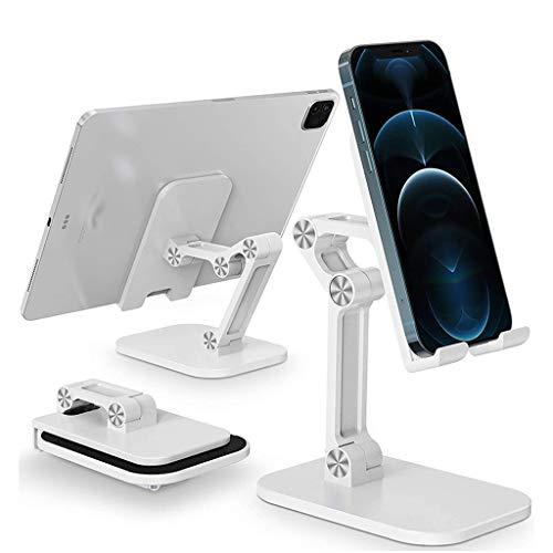 YWSZJ Soporte para teléfono móvil de Escritorio Plegable para Soporte de teléfono móvil de Mesa Universal (Color : White)