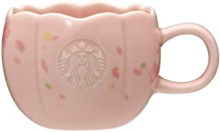 STARBUCKS スターバックス スタバ マグサクラシェイプ 355mlグラス コップ 食器 桜 さくら 花びら 花弁 SAKURA 2020 エンボス加工 陶器 桃 ピンク