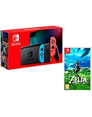 Nintendo Switch 32Gb Azul/Rojo neón + The Legend of Zelda: Breath of The Wild