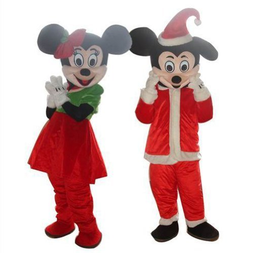 Warmcos Christmas Dress Minnie and Mickey Mouse Cosplay Mascot Costume by warmcos