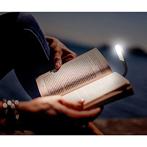 SJHP Luz de Lectura Mini luz de Clip Libros 3 Modos de Brillo USB Recargable 360 ° Flexible Lampara de Lectura Pinza para Lectores Noche E Reader Libro PC y Tablet Negro