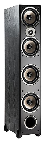 Polk Audio Monitor 70 Series II Tower Speaker (Black, Single) for Multichannel Home Theater | 1' Tweeter, (4) 6.5' Woofers | Bi-Wire & Bi-Amp