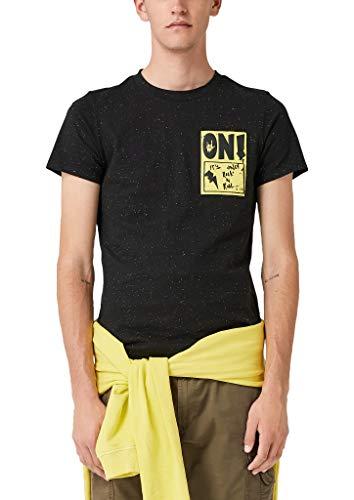 Q/S designed by - s.Oliver Herren 40.908.32.5436 T-Shirt, Schwarz (Black 99w0), XL