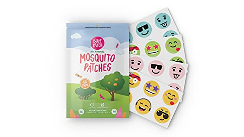 BuzzPatch Mosquito Repellant Patch Stickers for Kids (60 Pack) - All Natural, Plant Based Ingredients, Non-Toxic, DEET Free, Citronella Essential Oil Insect Patches, For Toddlers, Babies, Children (1)