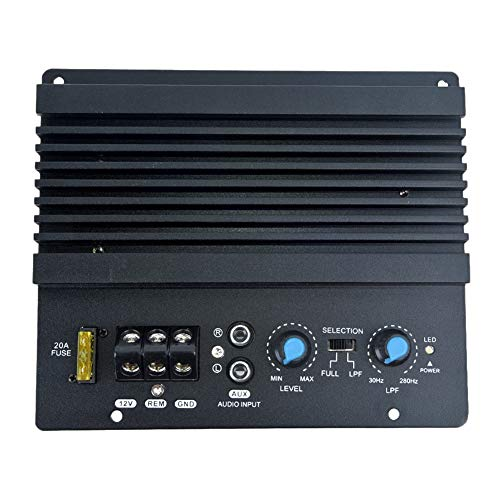 WOVELOT Mono DIY Amplificador de Audio Tablero de Amplificadores Potente Subwoofer de Graves 12V Tablero de Amplificador de Audio