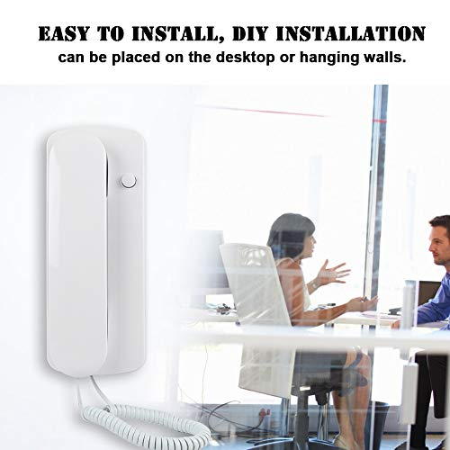 Two-Way Intercom Doorphone, One-to-one Wireless Audio Home Office Linerphone Non-visual Interphone Wired AC DC for 2 Room