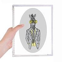 黄色のガラスのシマウマの灰色の人気の動物 硬質プラスチックルーズリーフノートノート
