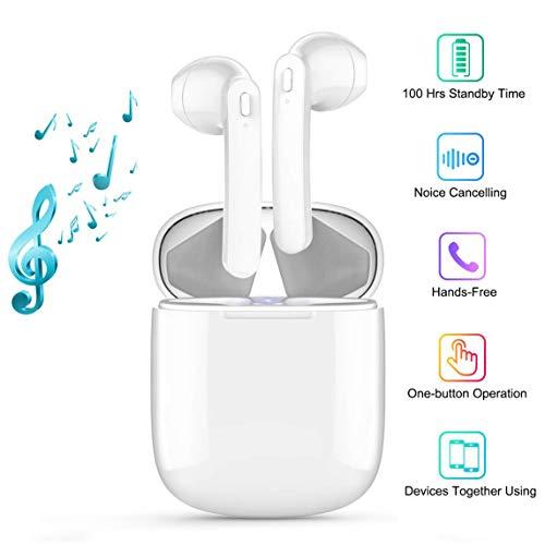 Écouteur Bluetooth sans Fil Écouteur Sport Étanche 3D Hi-FI, Oreillette Bluetooth avec Mic et Boîte de Charge, Réduction du Bruit CVC 8.0 Casque Stéréo Écouteur Sport pour iOS Android